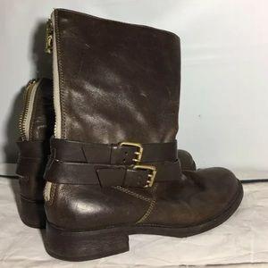 J.Crew Britten Short Flat Boots Leather